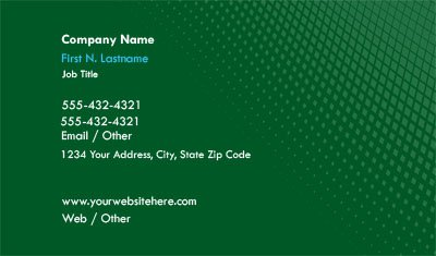Dark Green Gradient Business Card Template